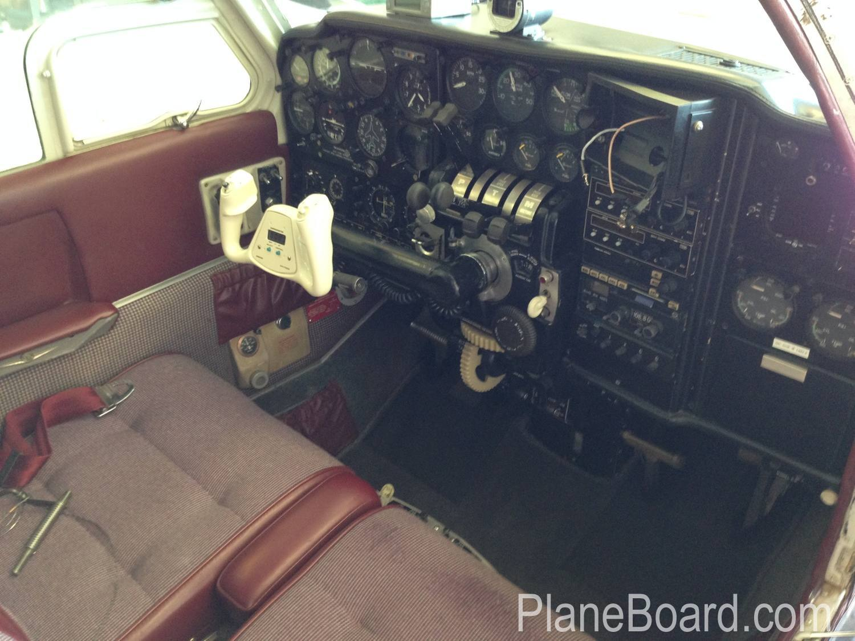 1967 Beechcraft C55 Baron interior 14