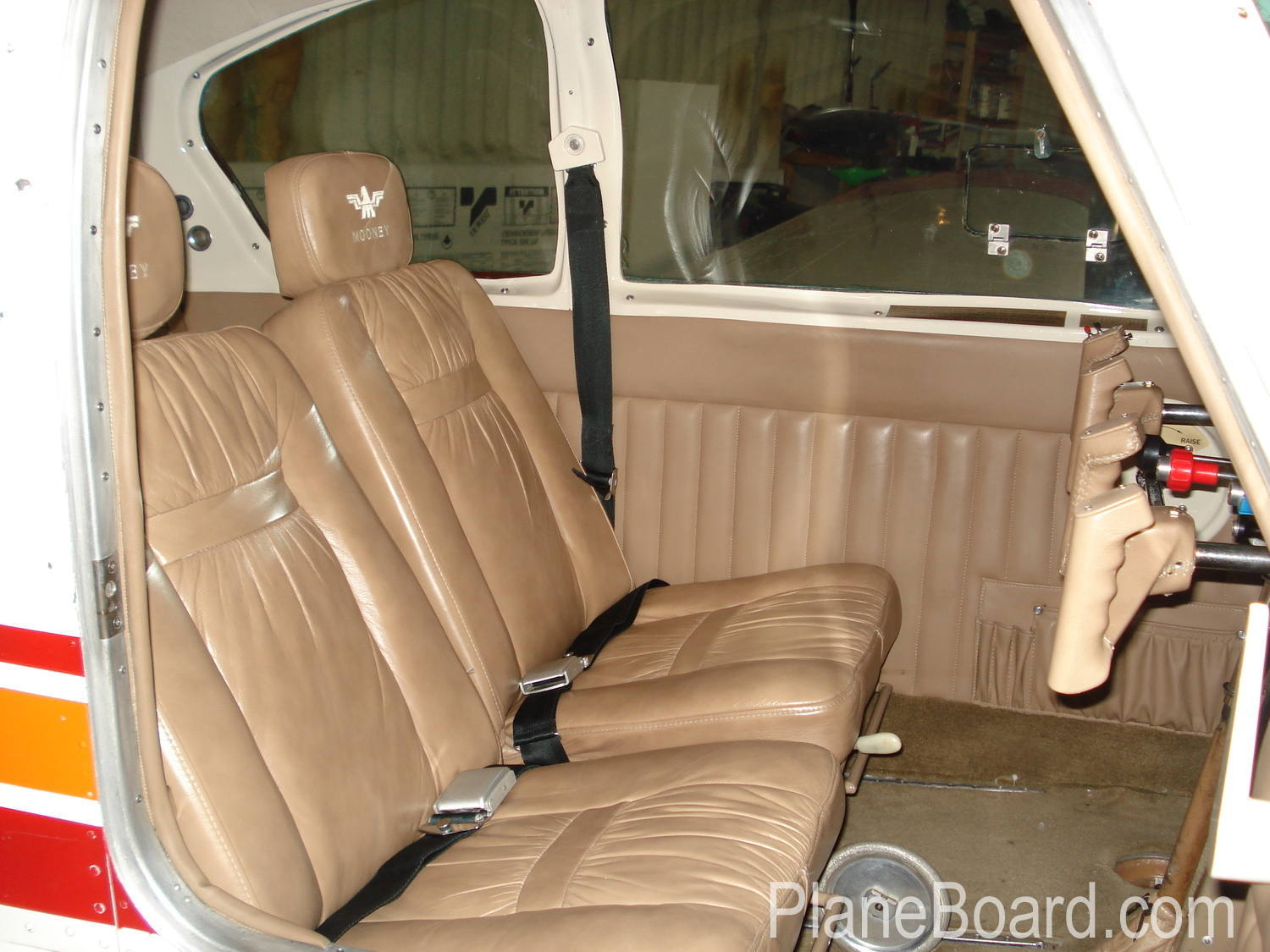 1962 Mooney M20C interior 1