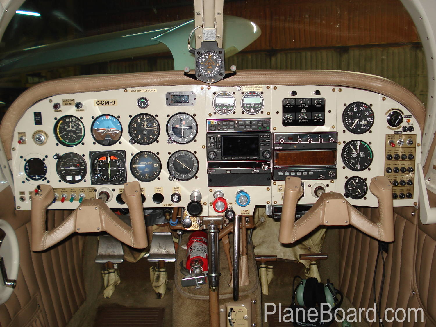 1962 Mooney M20C interior 3