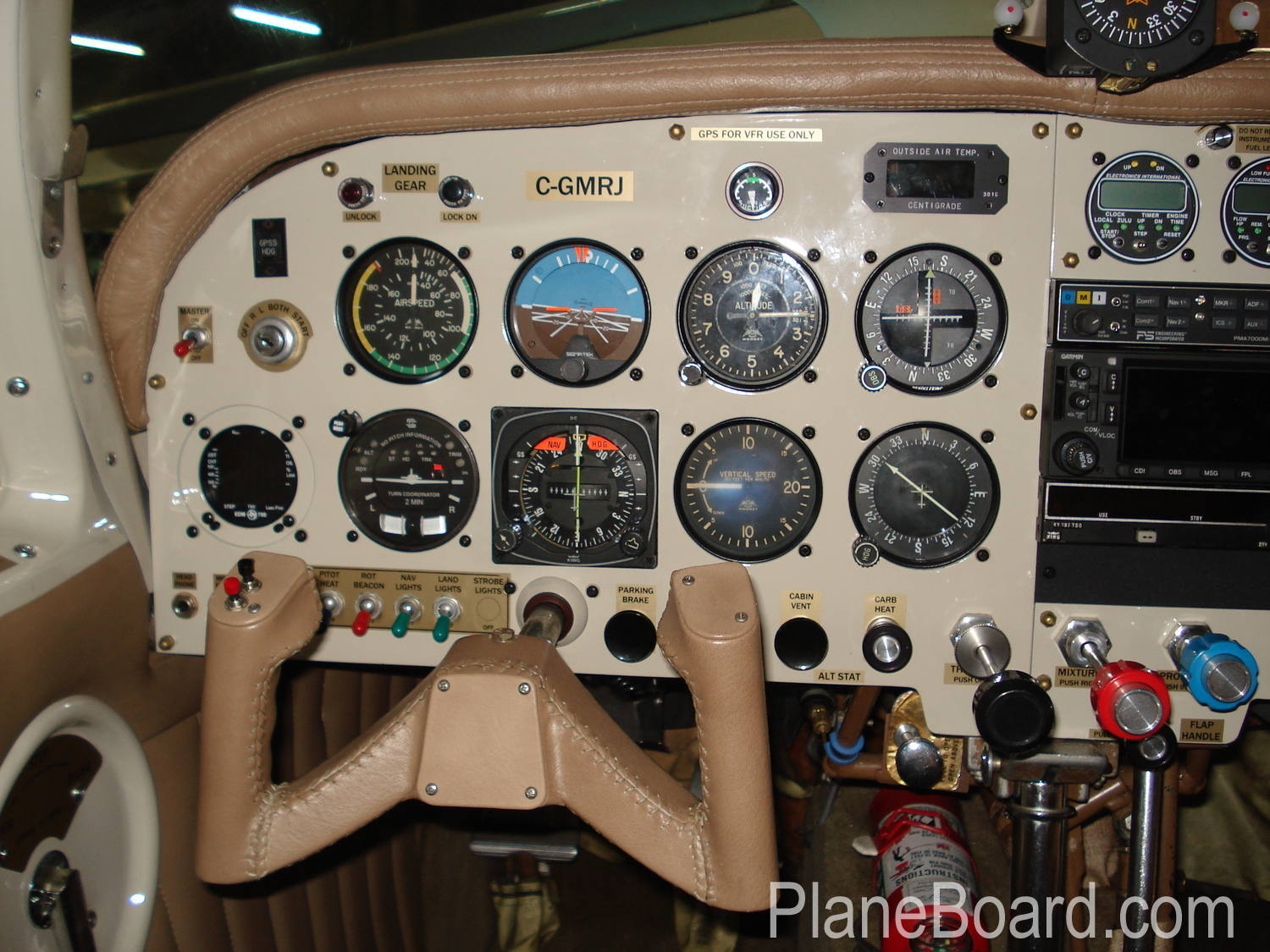 1962 Mooney M20C interior 4