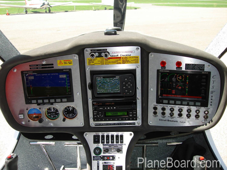 2006 Flight Design CTSW interior 1