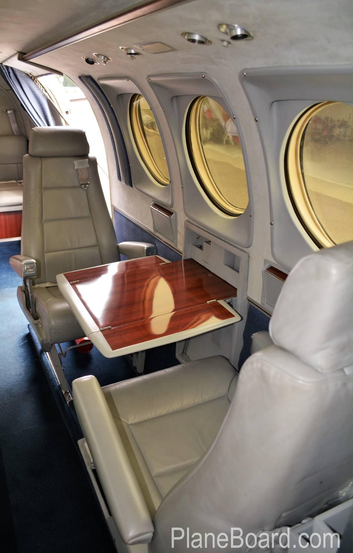1977 Beechcraft King Air C90 interior 12