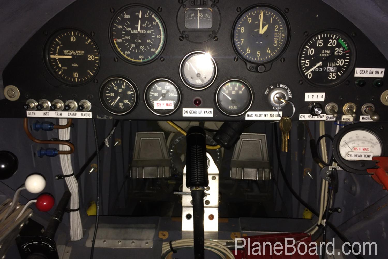 1991 W.A.R. F4U Corsair interior 2