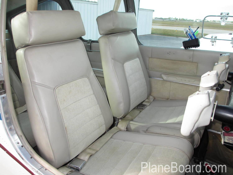 1963 Beechcraft A55 Baron interior 1