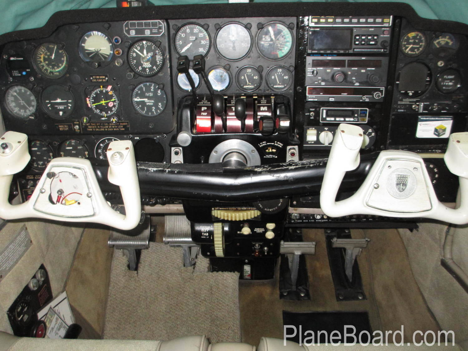 1963 Beechcraft A55 Baron interior 0